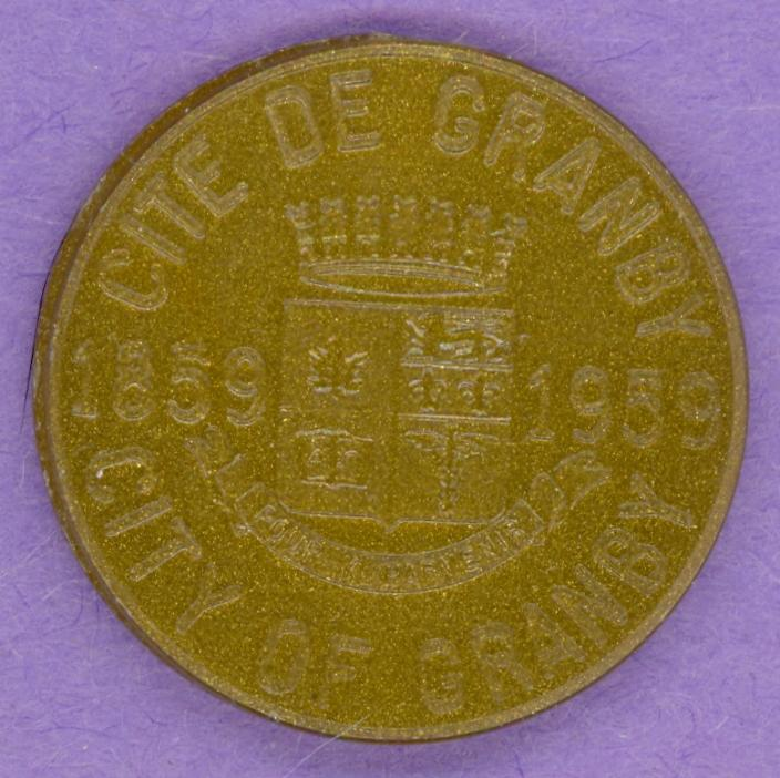 1959 Granby Quebec Trade Token - First issued in Quebec