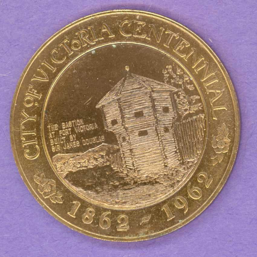1962 Victoria British Columbia Trade Token or Dollar Bastion 1 Section Fence