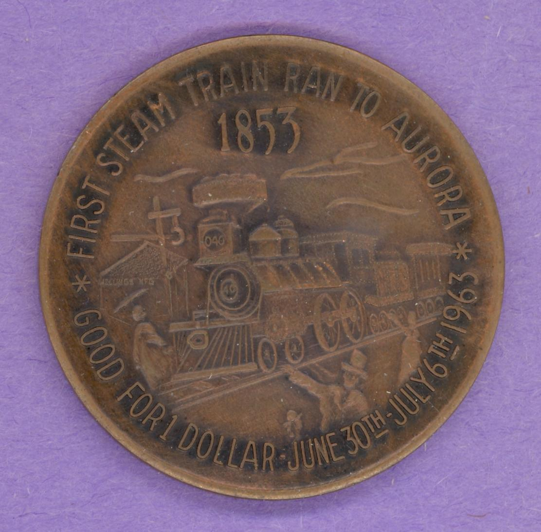 1963 Aurora Trade Token I Cloud Initials - Train