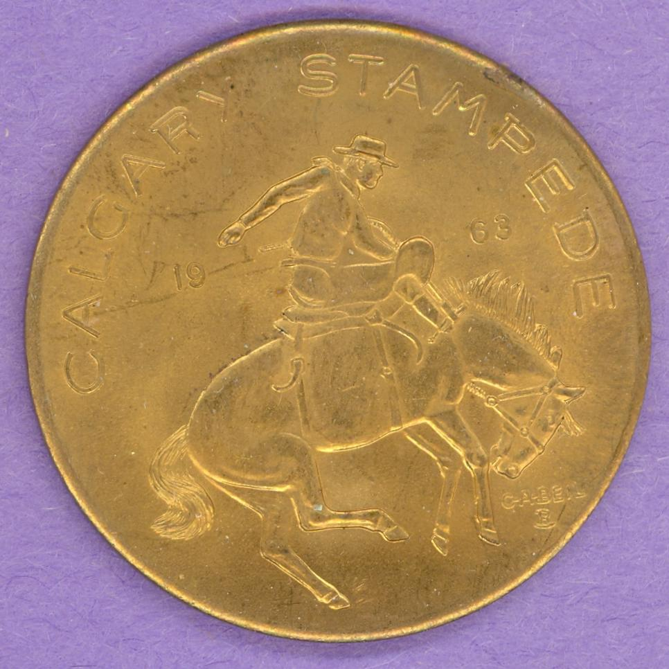 1963 Calgary Trade Token - Weak - Bucking Bronco