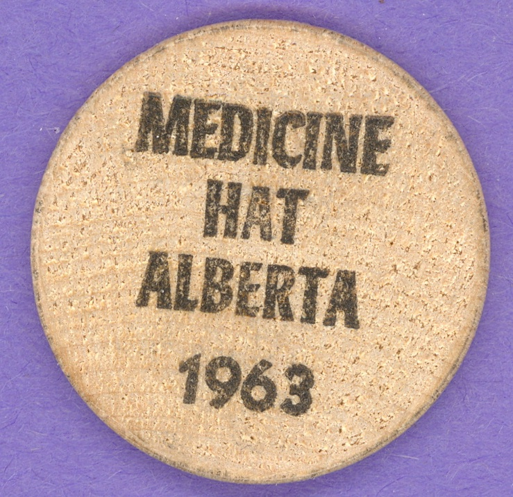 1963 Medicine Hat Wooden Nickel Convention