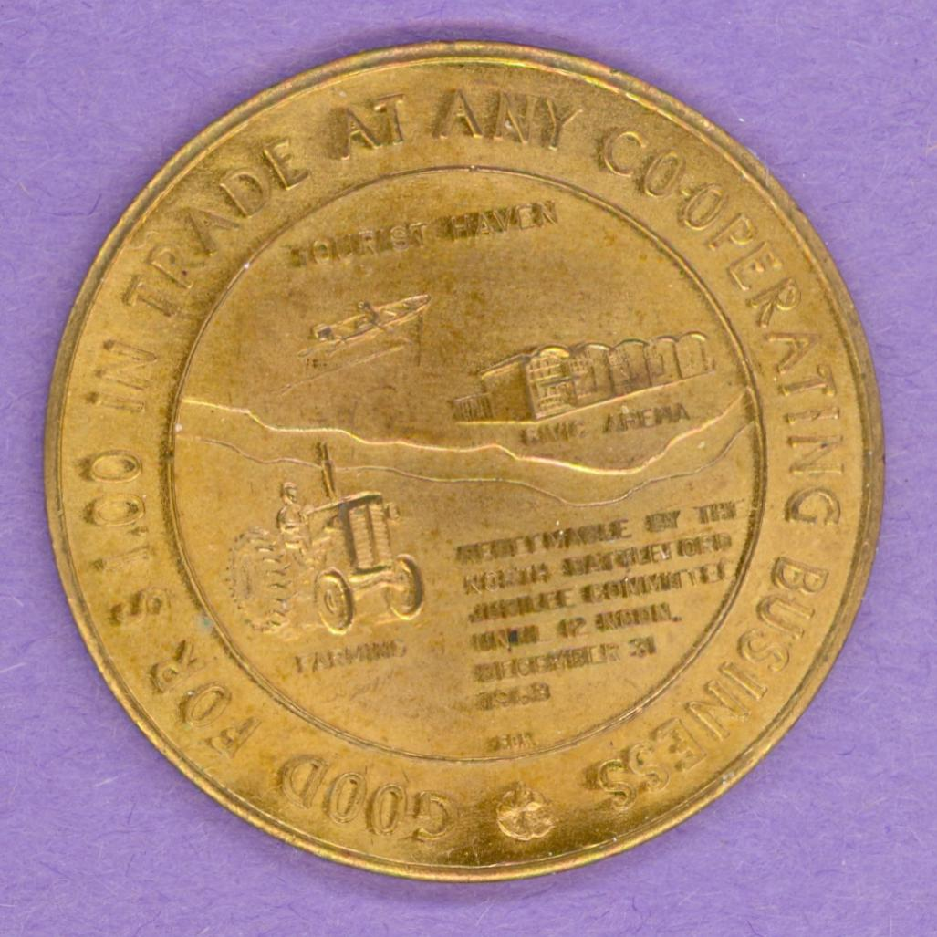 1963 North Battleford, Saskatchewan Trade Dollar