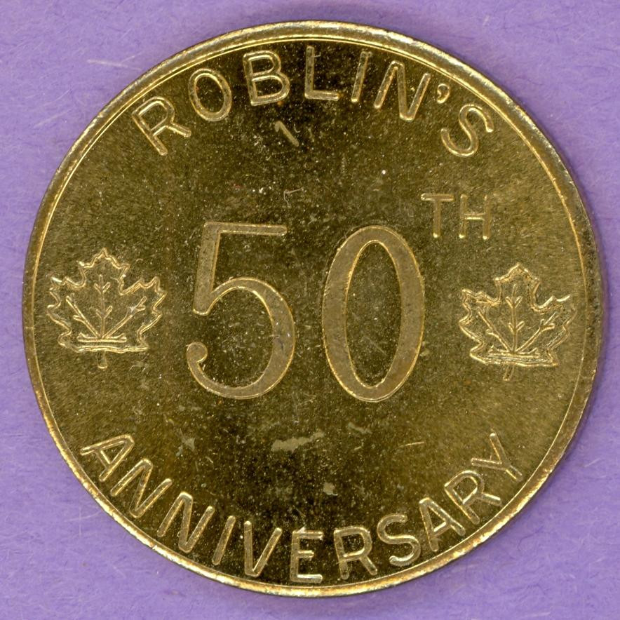 1963 SCARCE ROBLIN Manitoba Trade Token or Dollar 50th Anniversary 1 BUCK