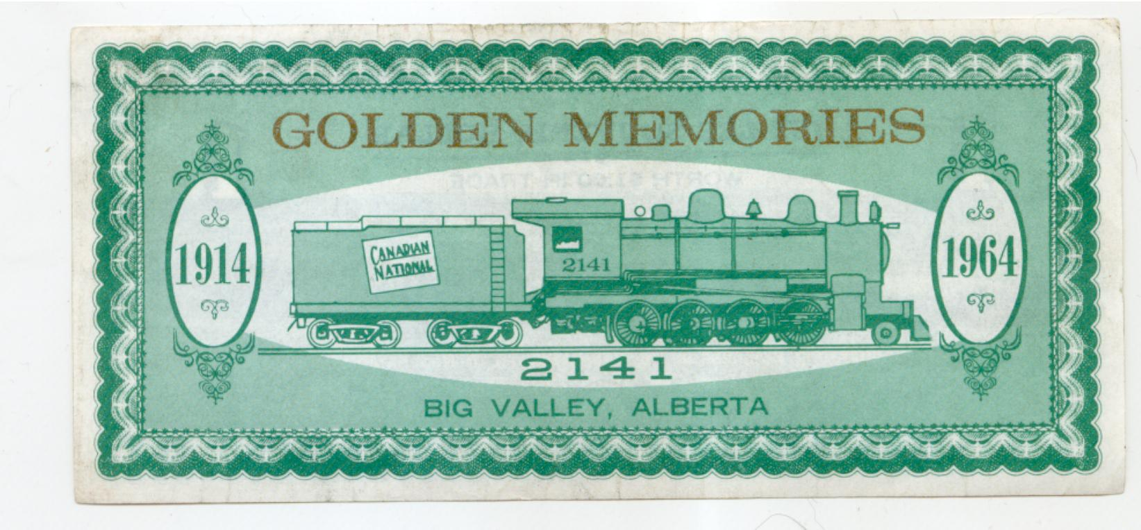1964 Big Valley Alberta Trade Note - Locomotive