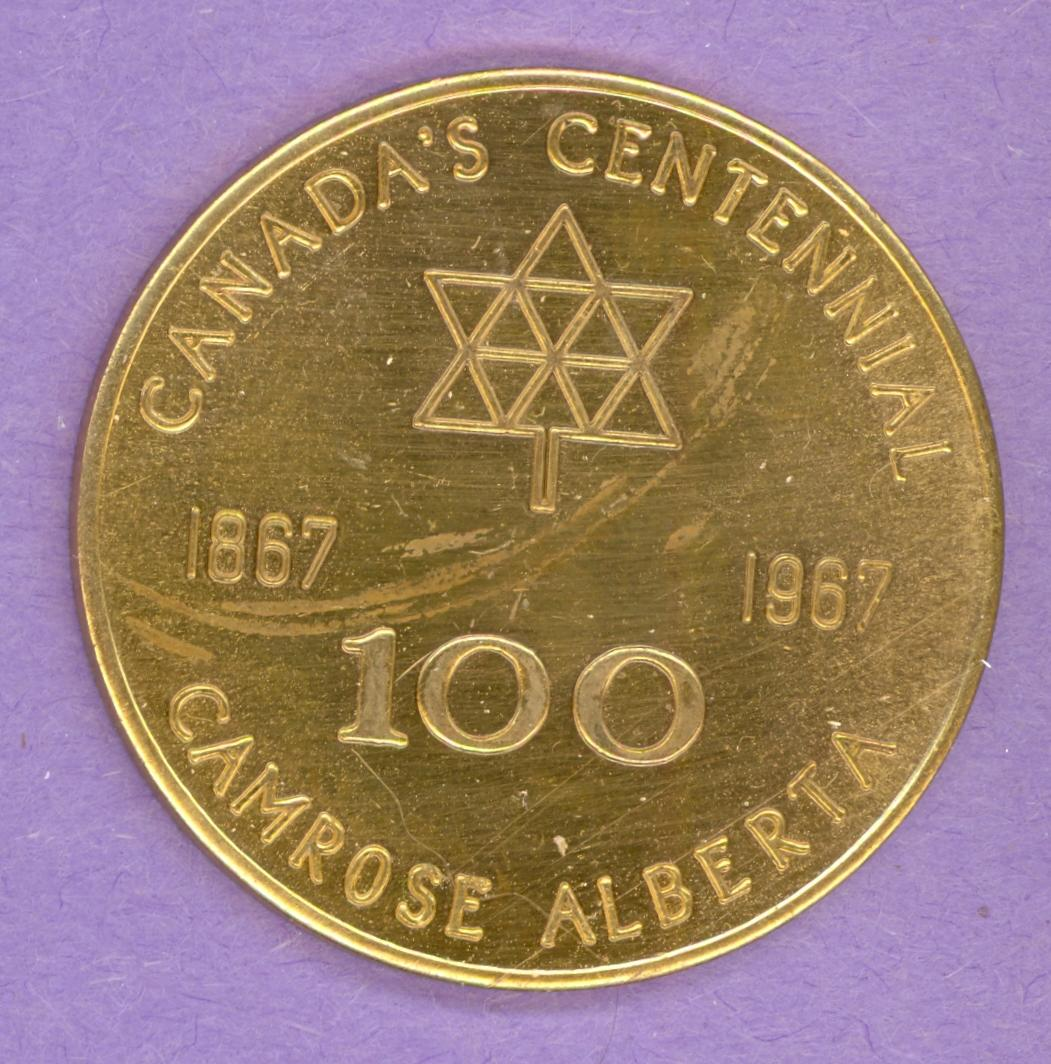 1967 Camrose Alberta Trade Token - Rose