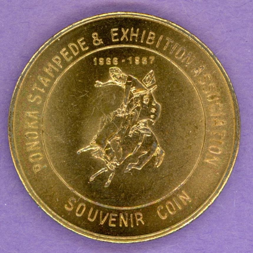 1967 Ponoka Alberta Trade Token - Bucking Bronco