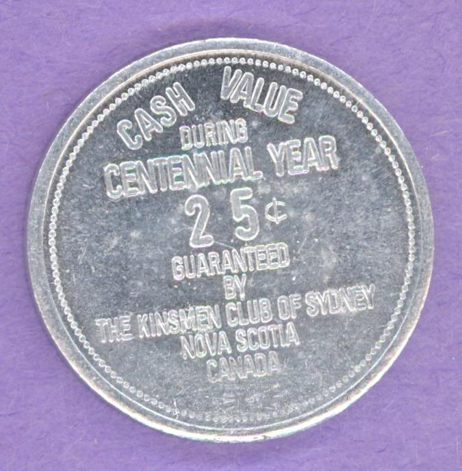 1967 Sydney Nova Scotia Trade Token or Dollar Souvenir Two Bits