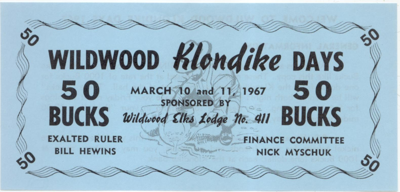 1967 Wildwood Alberta 50 Bucks Trade Note or Script