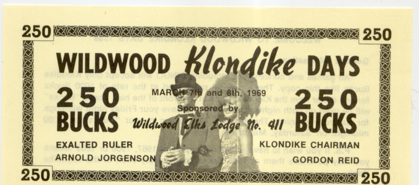1969 Wildwood Alberta Klondike Days 250 bucks