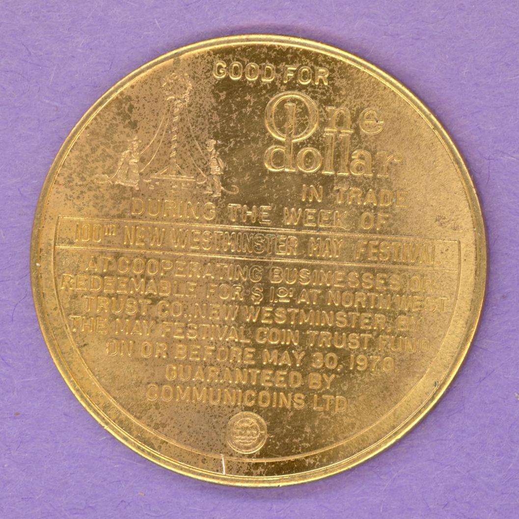 1970 New Westminster BC Trade Token - Flat Circle