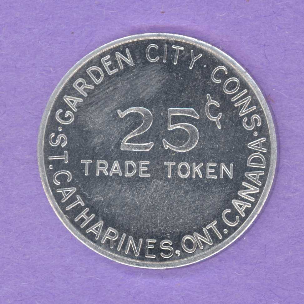 1970 Garden City Coins St. Catharines Ont. 25¢ Token or Medallion