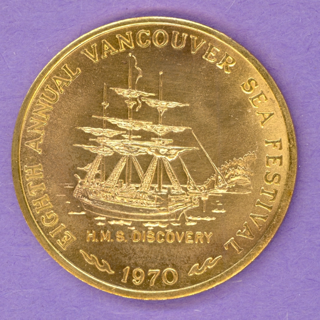 1970 Vancouver B.C. Trade Token or Dollar Sailing Ship