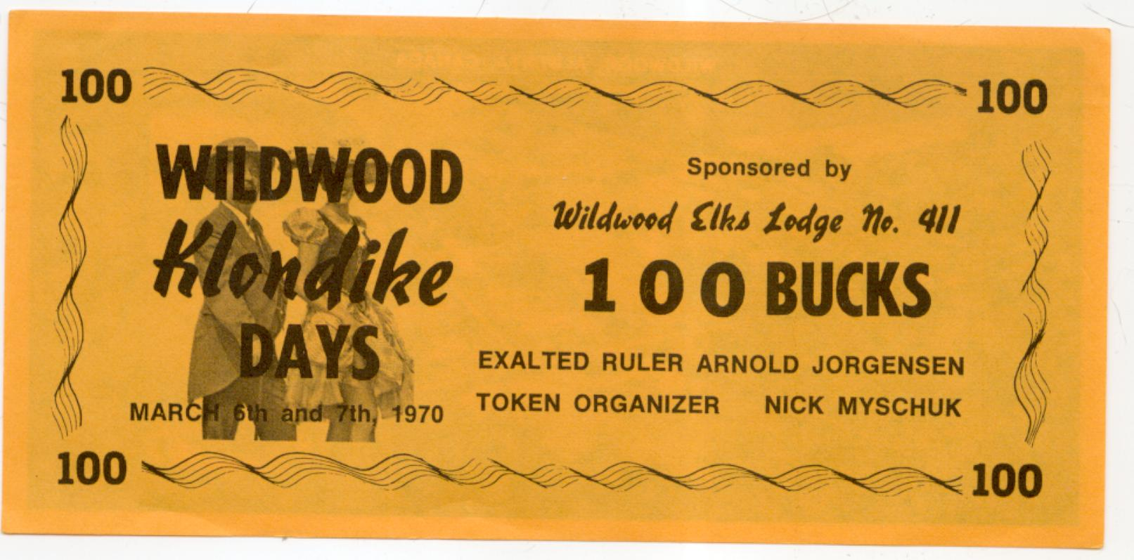 1970 Wildwood Alberta 100 buck note