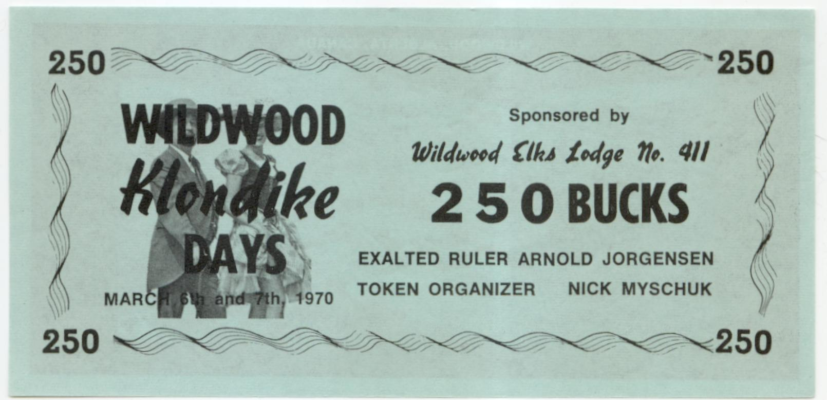 1970 Wildwood Alberta 250 buck note