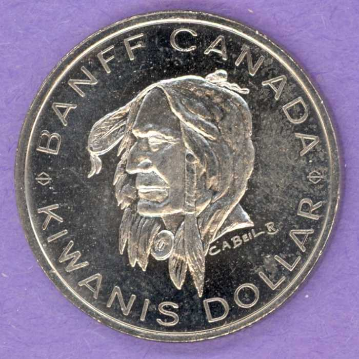 1971 Banff Trade Token - Chief Crowfoot