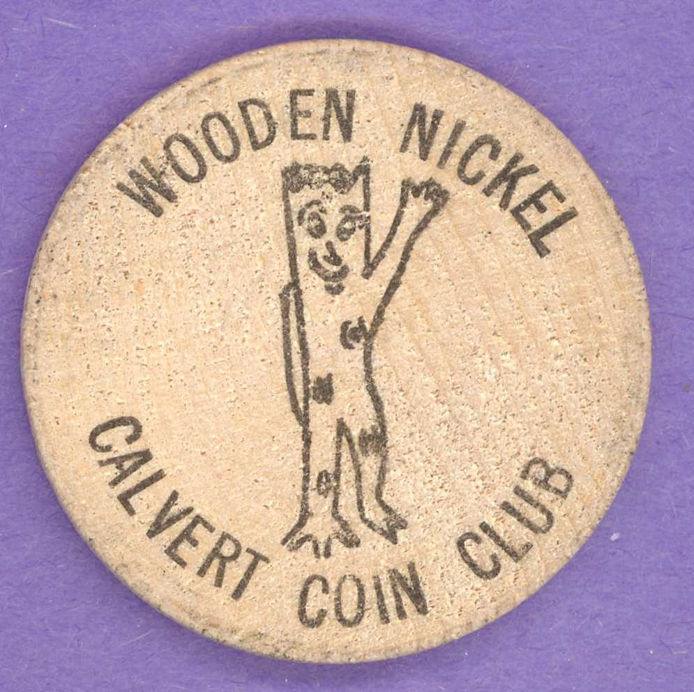 1973 Iroquois Falls Ontario Calvert Coin Club Wooden Nickel