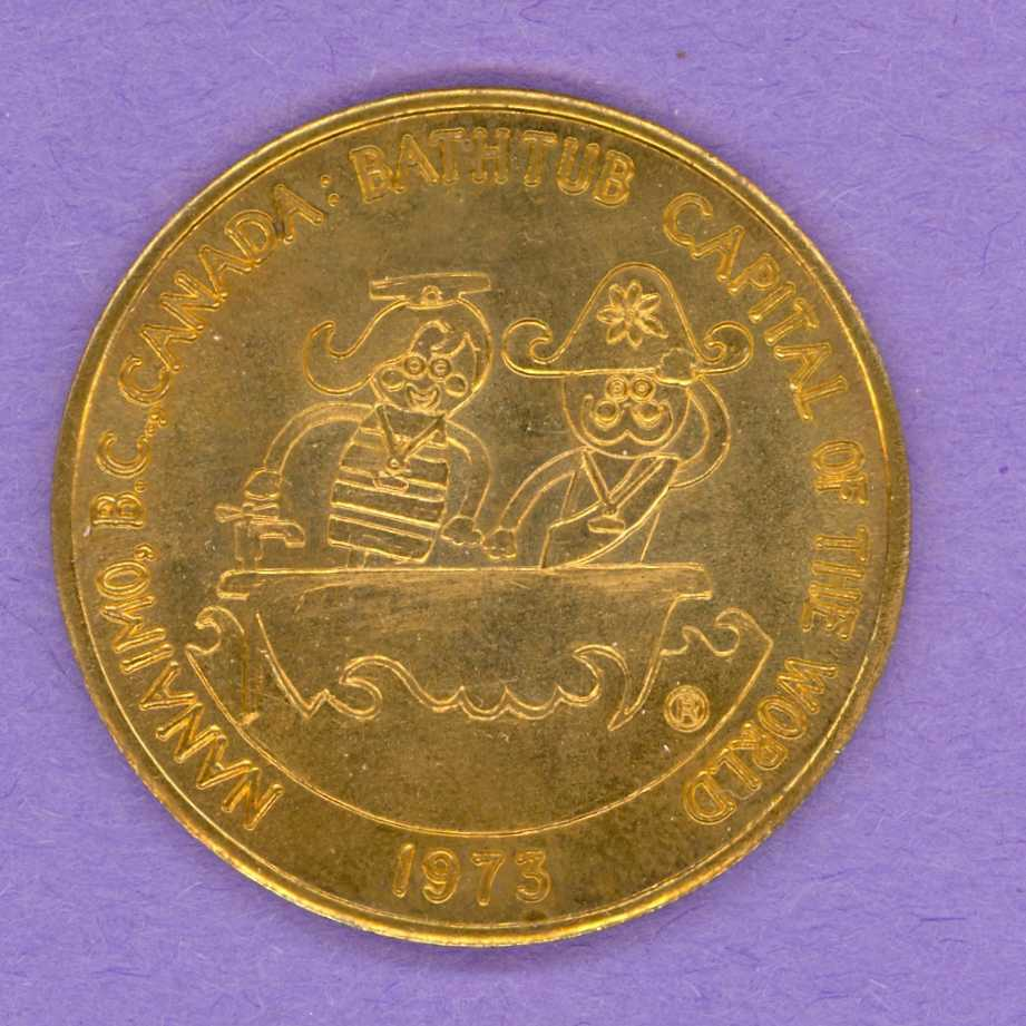 1973 Nanaimo B.C. Trade Token or Dollar Bathtub Race