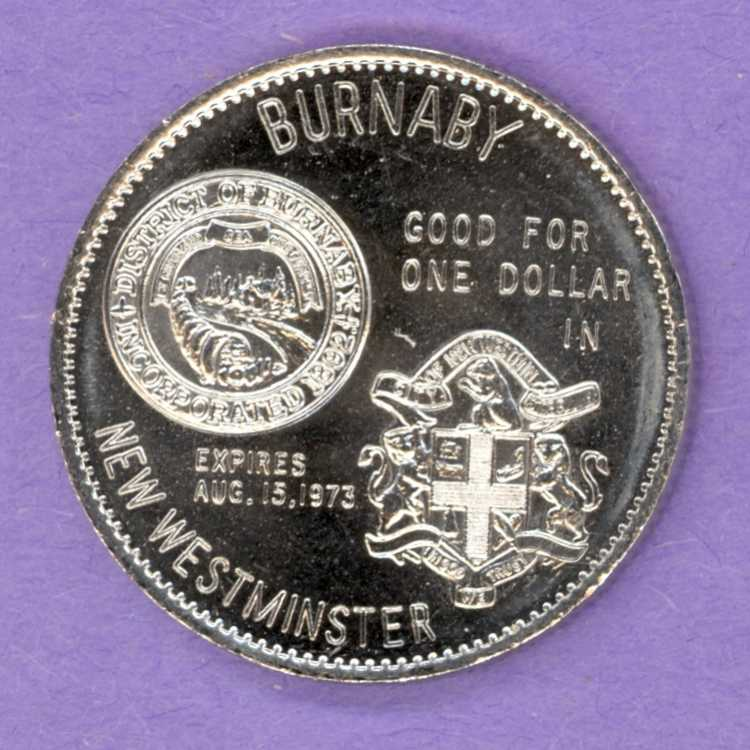 1973 New Westminster / Burnaby BC Trade Token - Canada Games