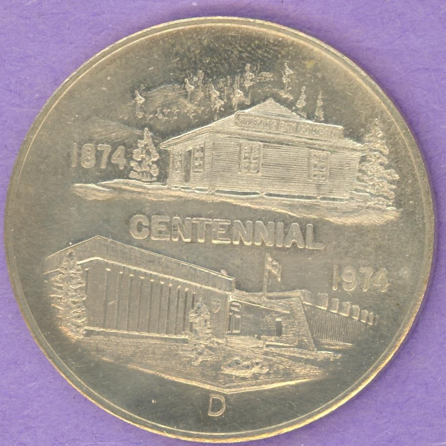 1974 Fort Smith NWT SCARCE Trade Dollar or Token Centennial ROUGH SHIELD