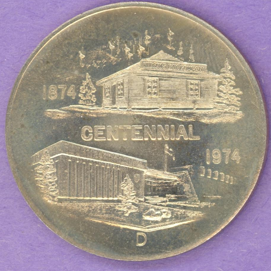 1974 Fort Smith NWT SCARCE Trade Dollar or Token Centennial SMOOTH SHIELD