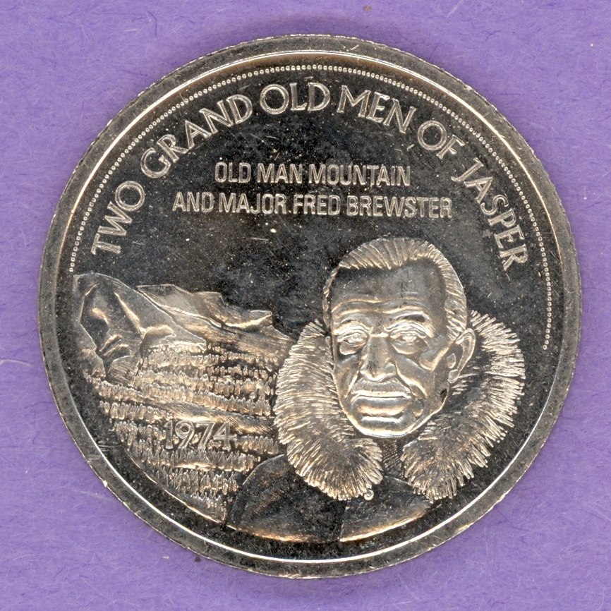 1974 Jasper Alberta Trade Token - Fred Brewster