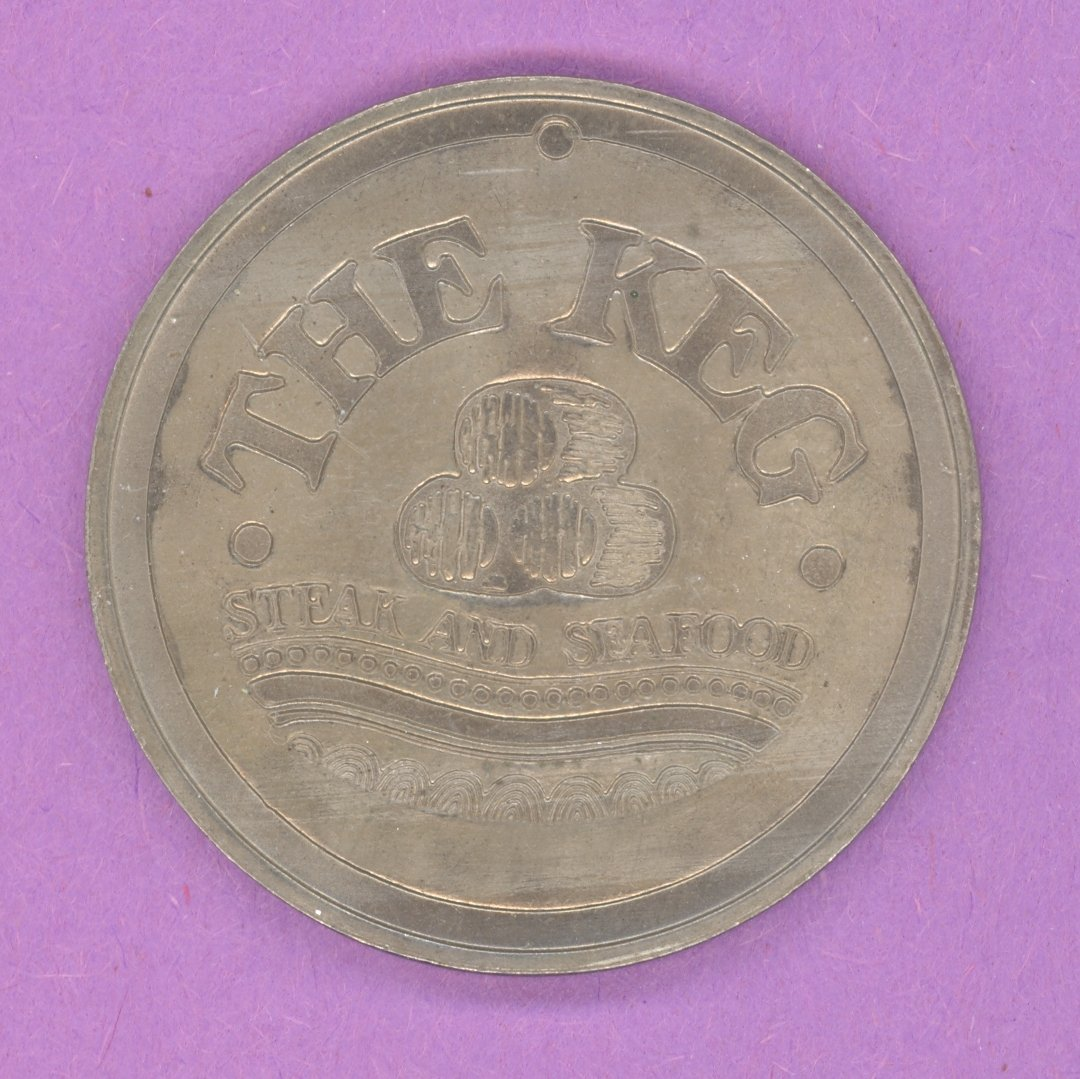 1974 The Keg Steak and Seafood Toronto Ontario Private Trade Token or Dollar