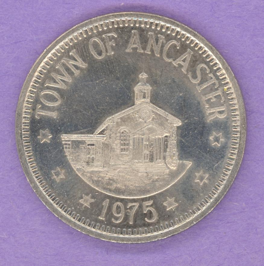 1975 Ancaster Ontario Municipal Trade Token or Trade Dollar Building Plow