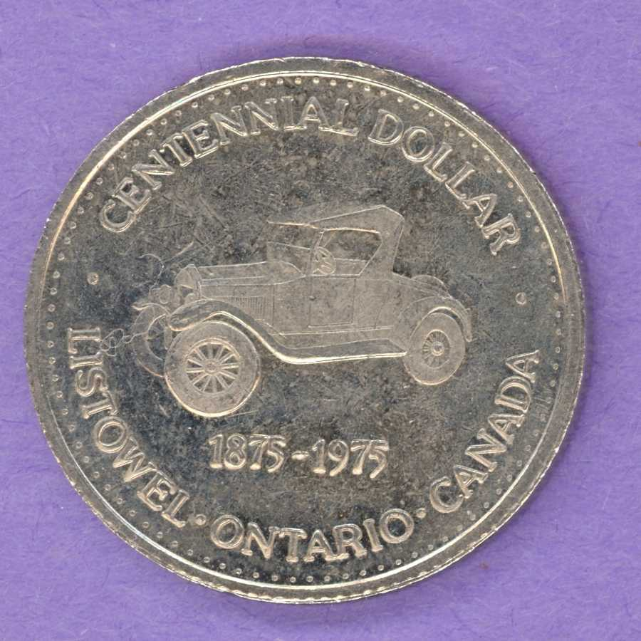 1975 Listowel Ontario Trade Token or Dollar Old Automobile Hourglass