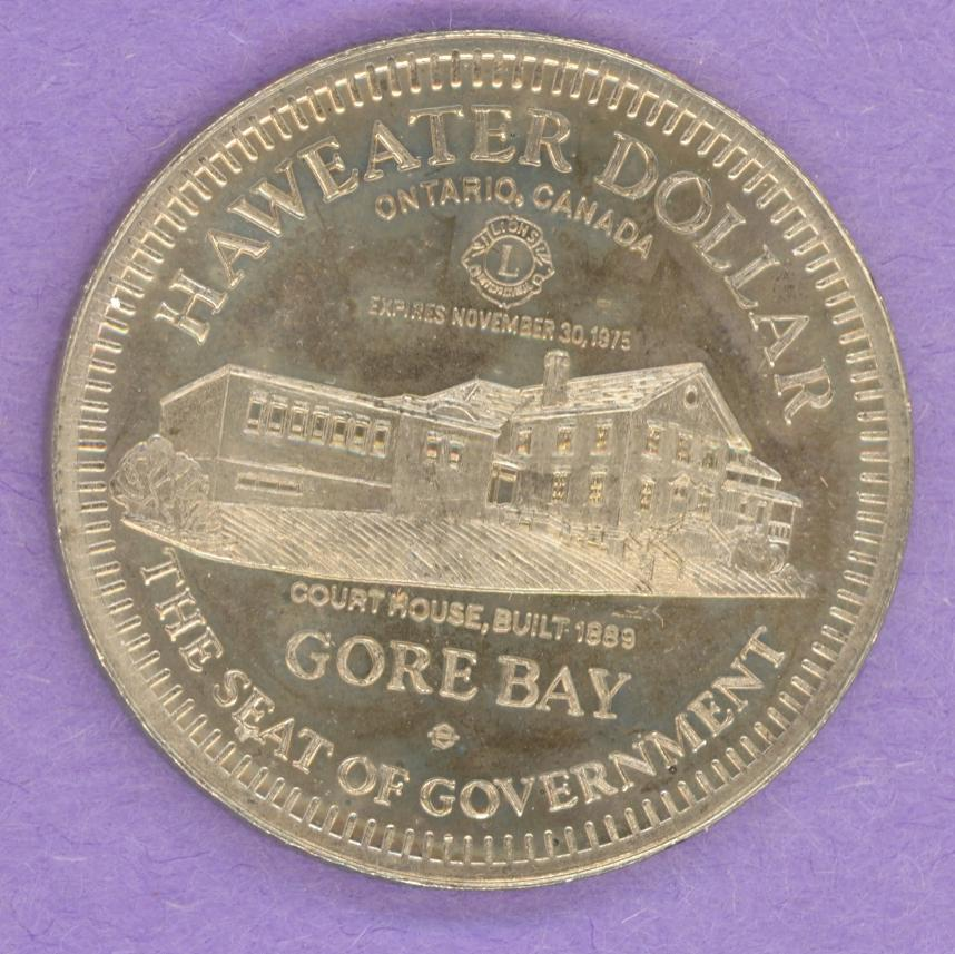 1975 Manitoulin Island ON Trade Token Couthouse