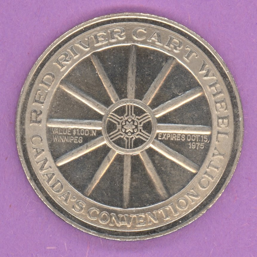 1975 Winnipeg Manitoba Trade Token or Dollar Wheel Manisphere Star Mint Mark