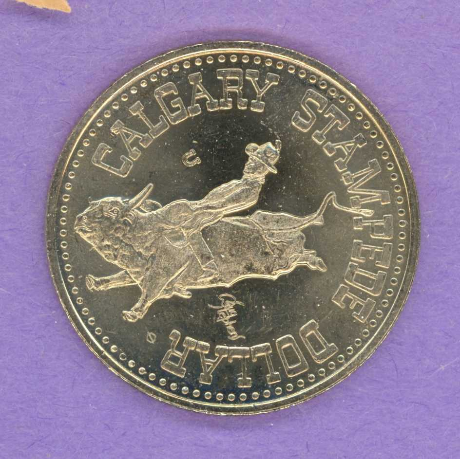 1976 Calgary Stampede Trade Token - Horseshoe Mint Mark