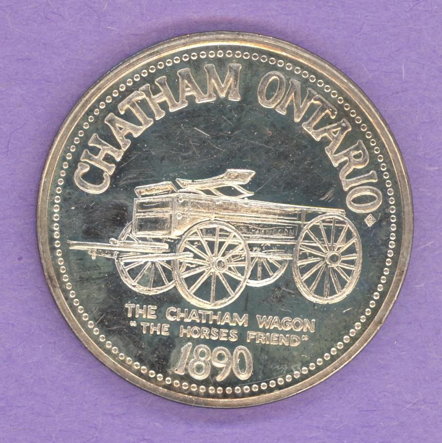1976 Chatham Ontario Trade Token or Dollar 1890 Chatham Wagon SILVER