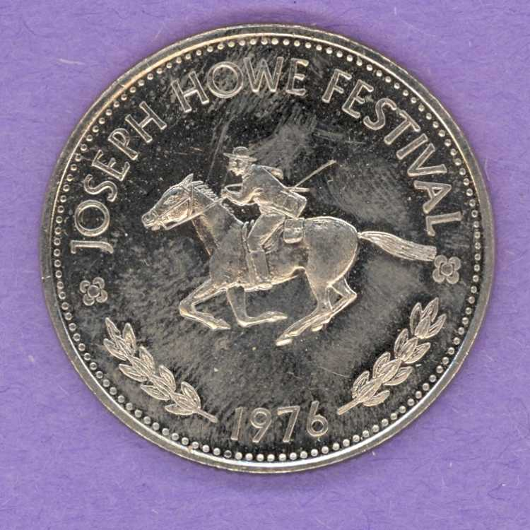 1976 Halifax Dartmouth Trade Token - Man on Horse