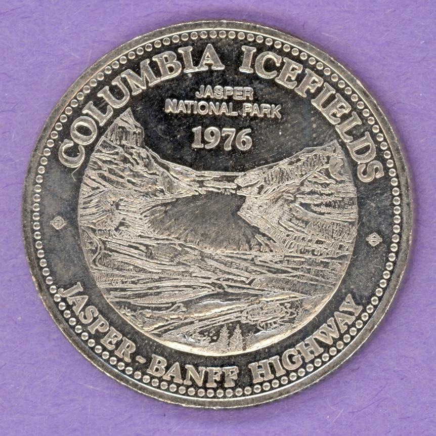 1976 Jasper Alberta Trade Token - Columbia Icefields