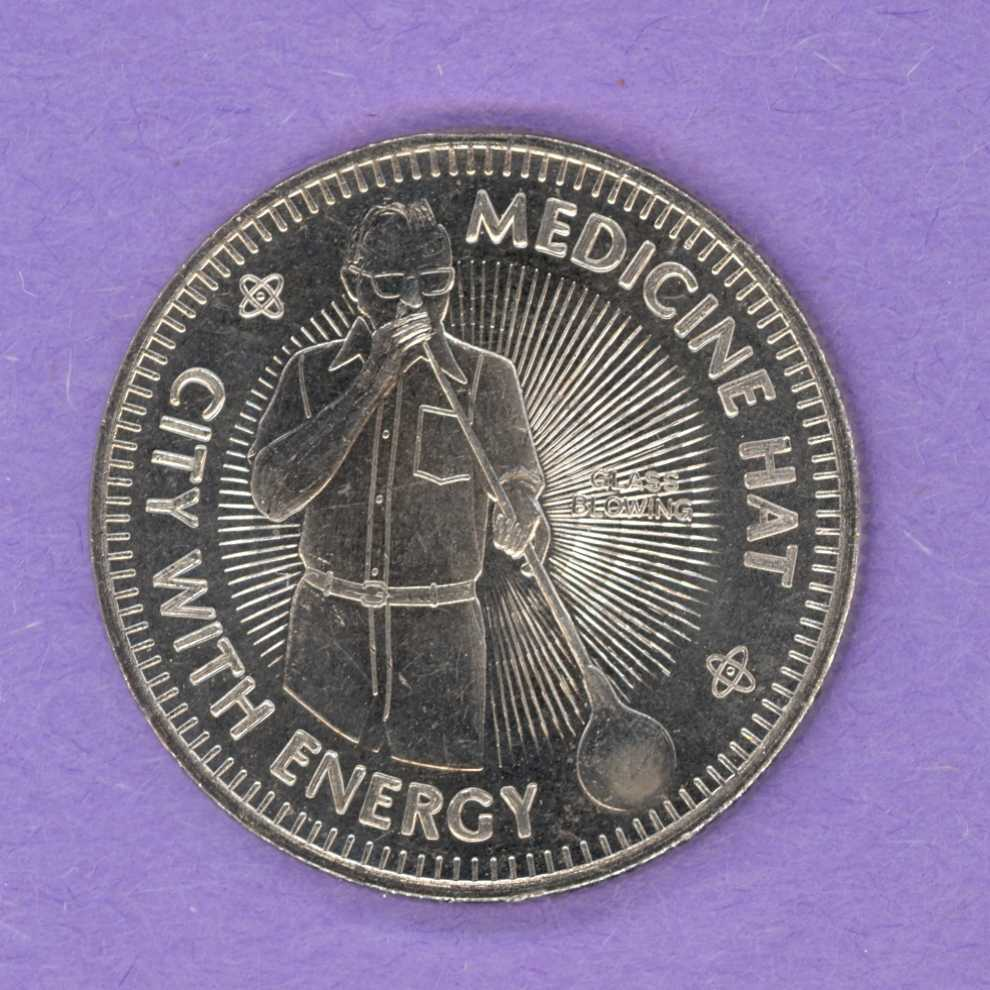 1976 Medicine Hat Alberta Trade Token - Glass Blowing