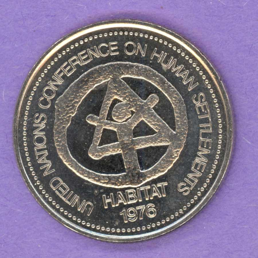 1976 Vancouver B.C. Trade Token or Dollar Habitat UN