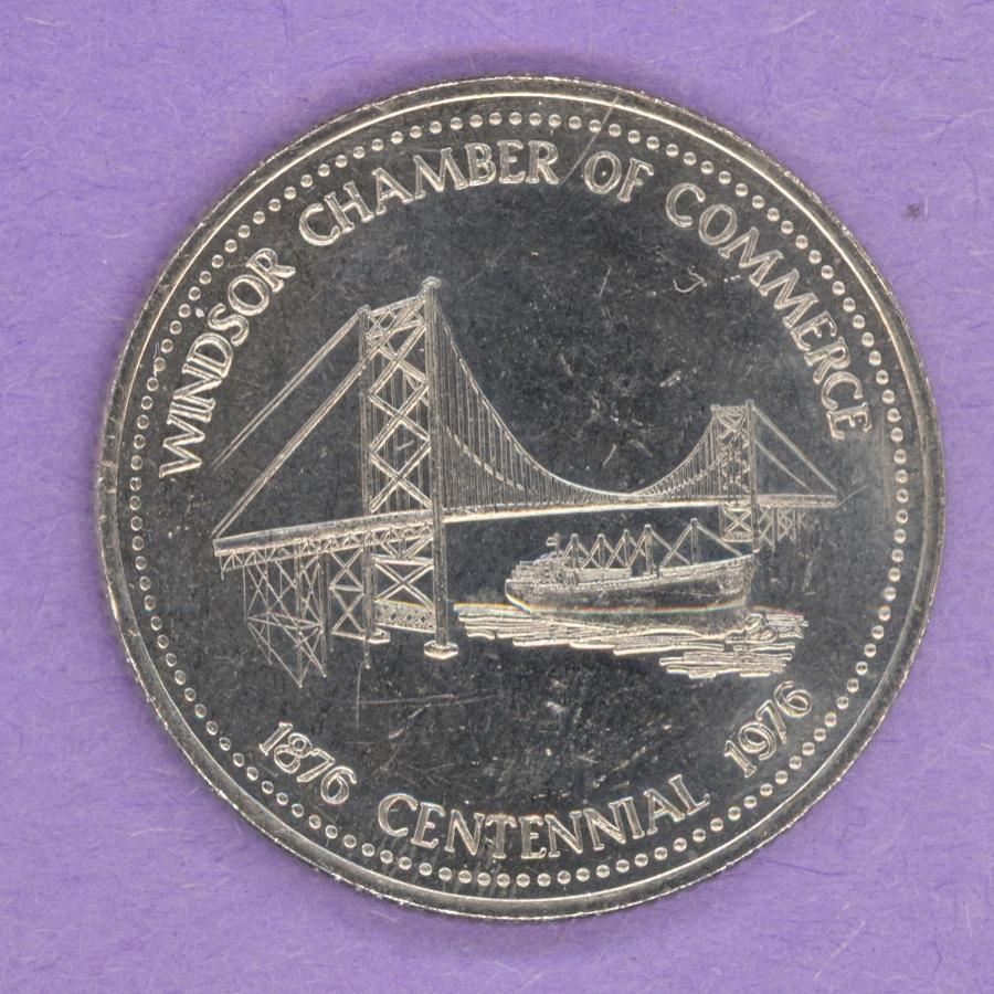 1976 Windsor Ontario Trade Dollar - Bridge