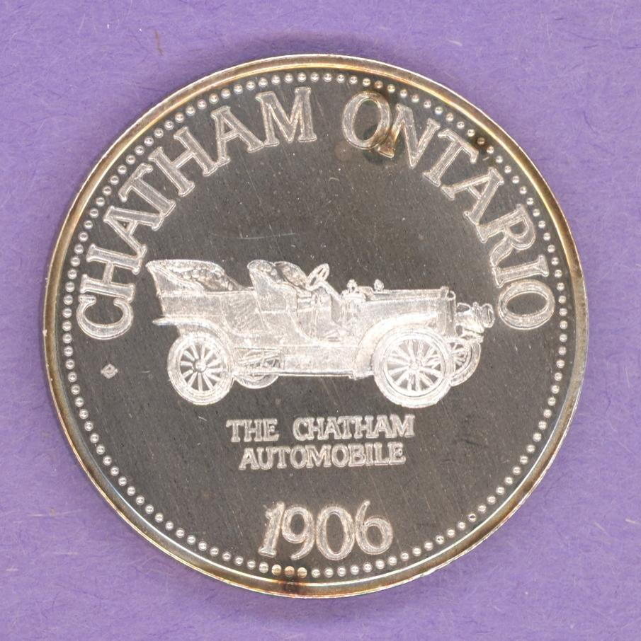 1977 Chatham Ontario Trade Token or Dollar 1906 Chatham Automobile SILVER