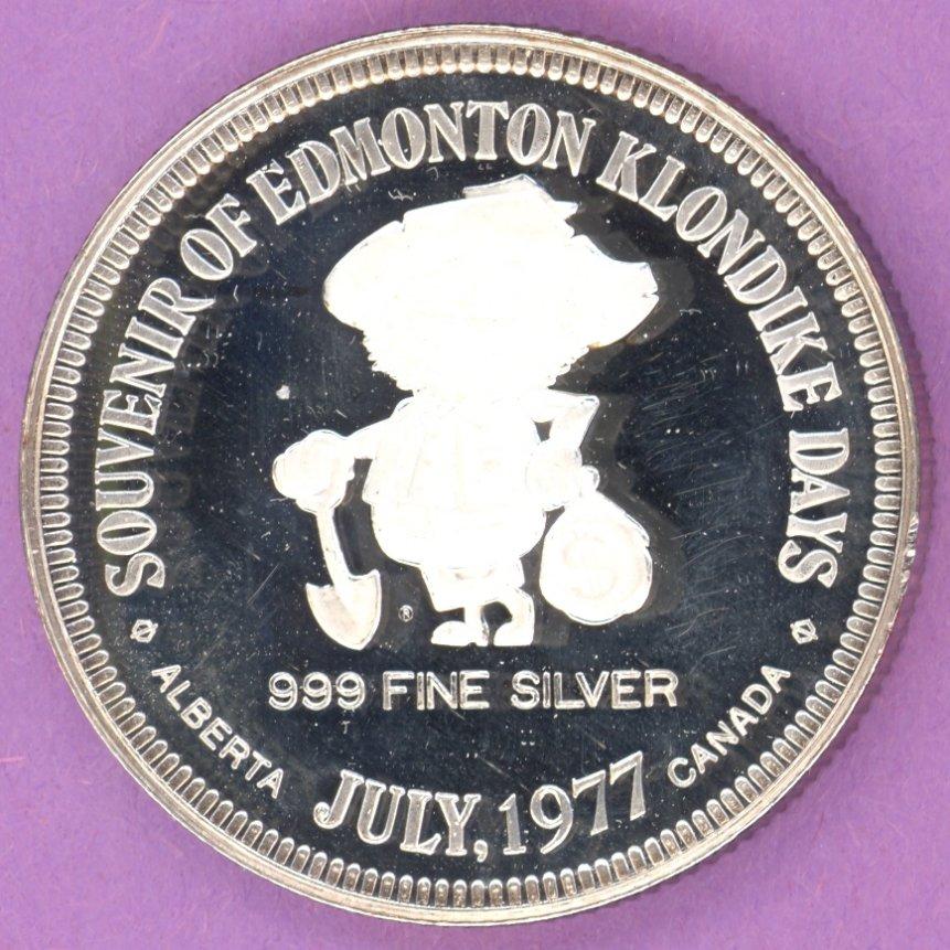 1977 Edmonton Alberta Trade Token or Dollar No Mint Mark