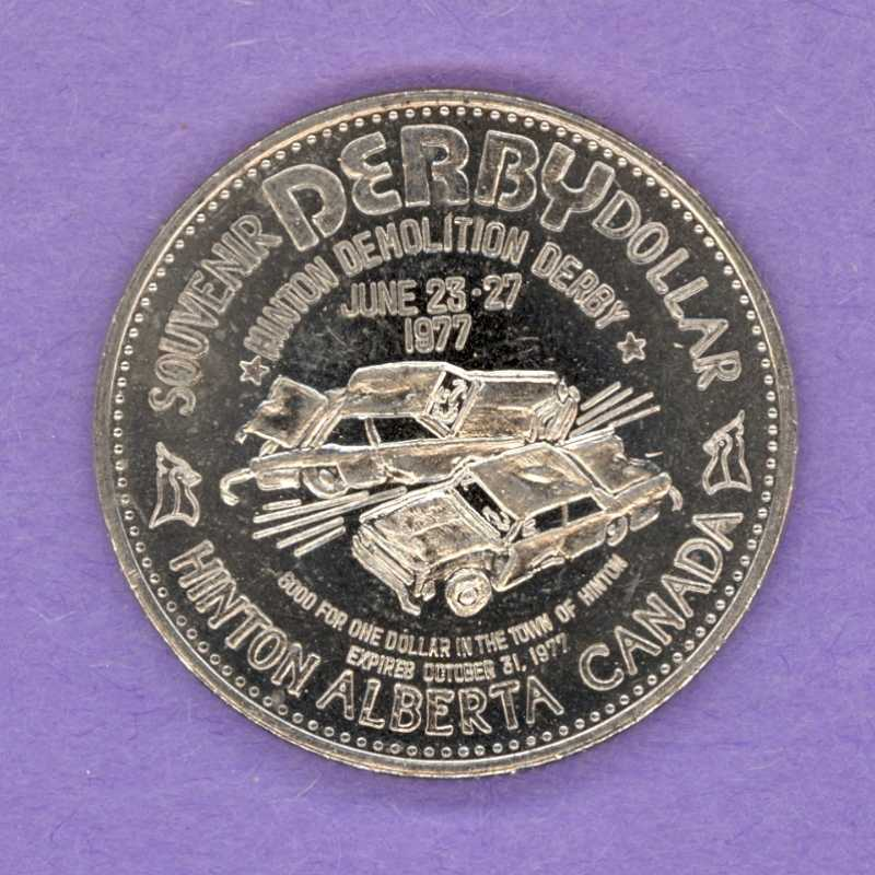 1977 Hinton Alberta Trade Token - Demolition Derby