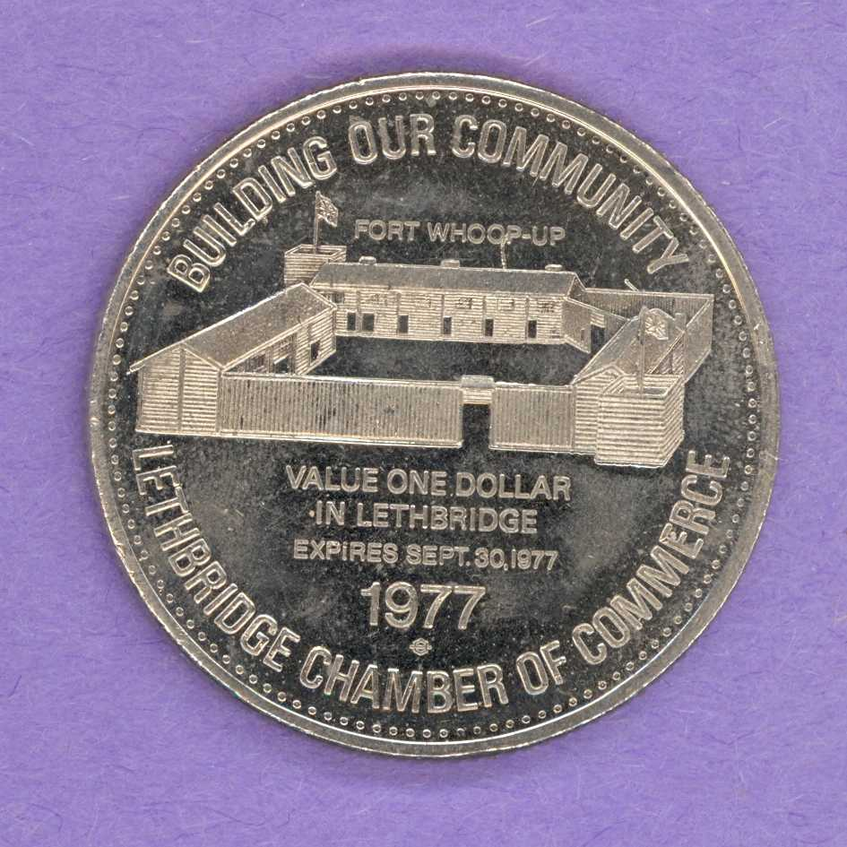 1977 Lethbridge Alberta Trade Token - Fort Whoop-Up
