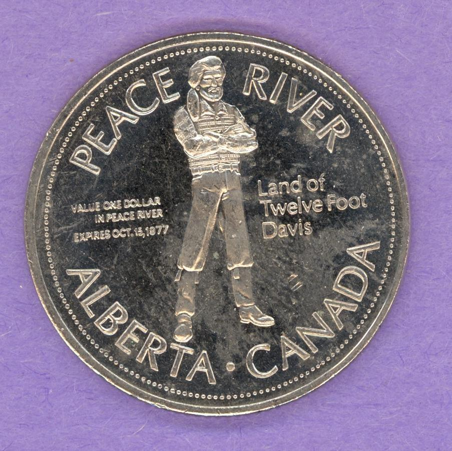 1977 Peace River Alberta Trade Token - Grain Elevator