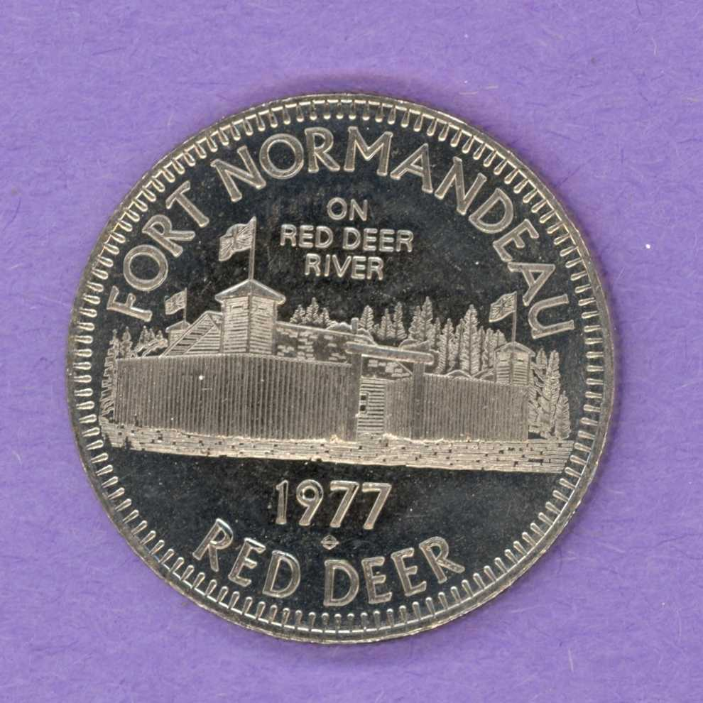 1977 Red Deer Alberta Trade Dollar