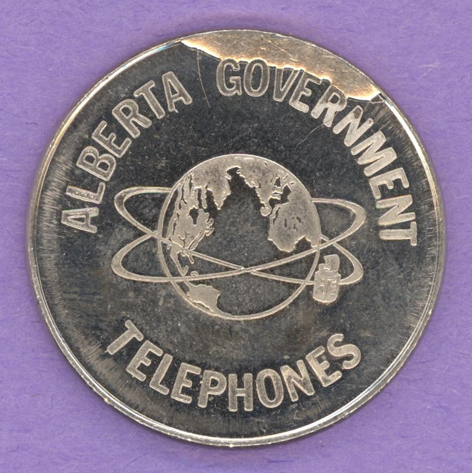 1978 Alberta Government Telephones $5 Visit Nickel Planchette Strike ERROR
