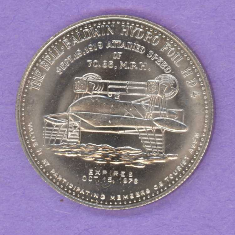 1978 Cape Breton Trade Token - Hydrofoil - Click Image to Close