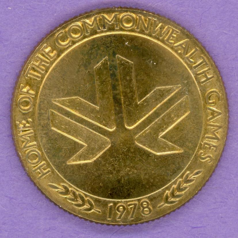 1978 Edmonton Commonwealth Games Medallion - Logo