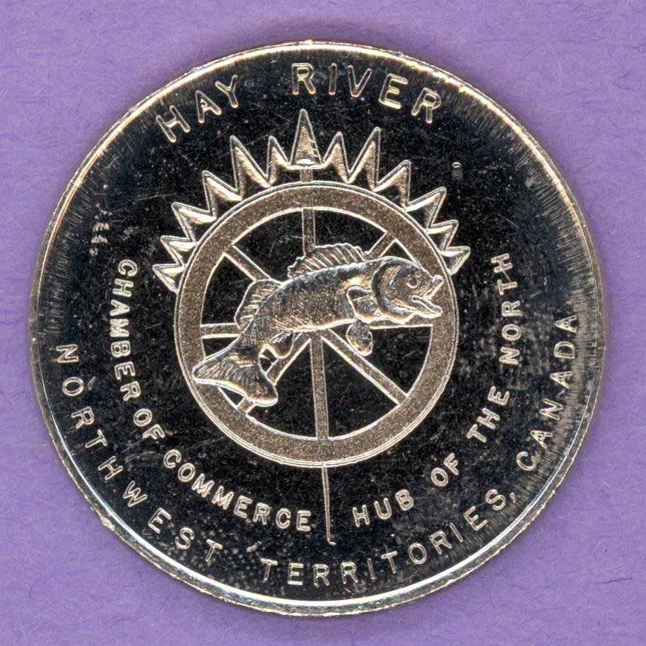 1978 Hay River Northwest Territories Trade Token or Dollar Arctic Winter Games