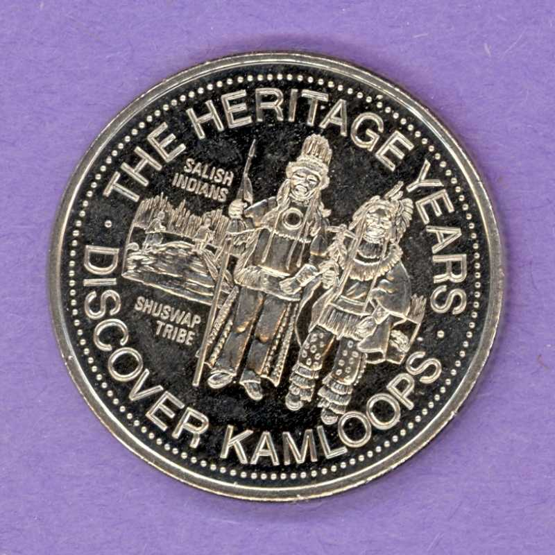1978 Kamloops BC Trade Token - Salish Indians
