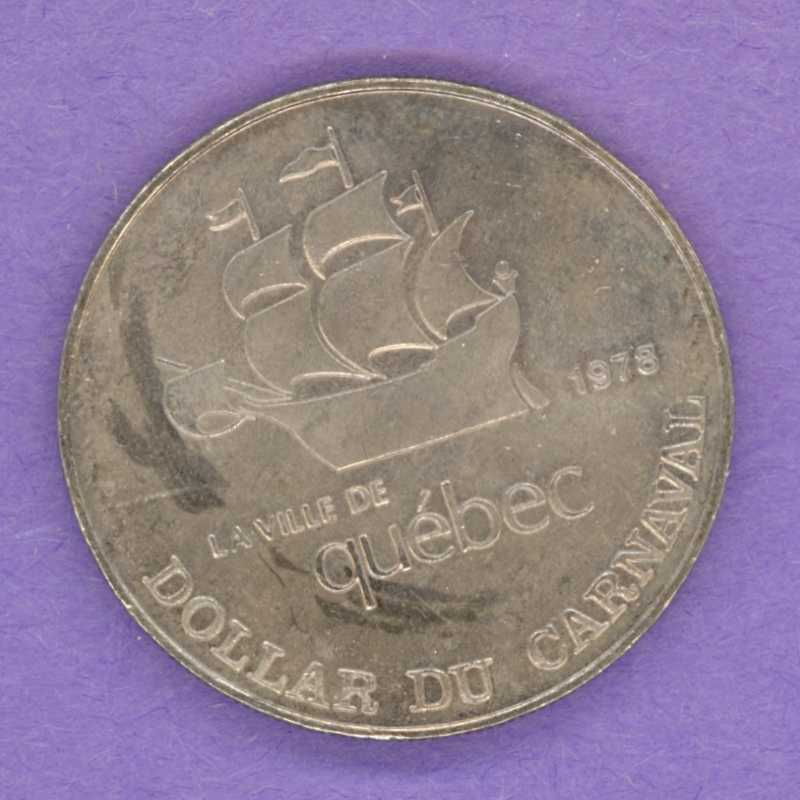 1978 Quebec City Quebec Trade Dollar or Token 1957 Effigy City Crest