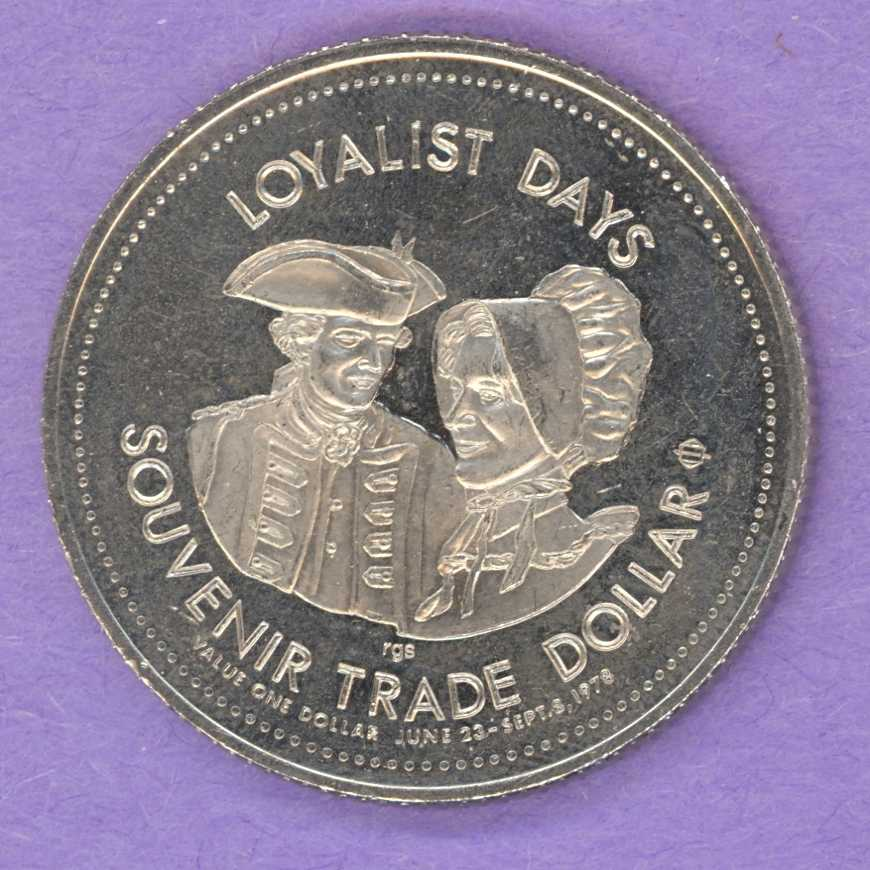 1978 Saint John, New Brunswick Trade Dollar